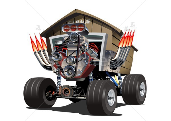 Vector Cartoon Garage Truck. Stock photo © mechanik
