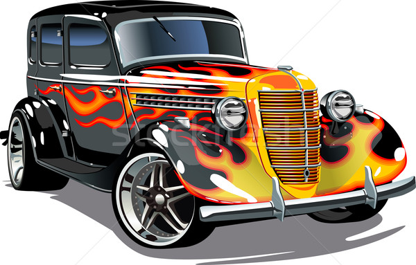 Vector retro hotrod Stock photo © mechanik