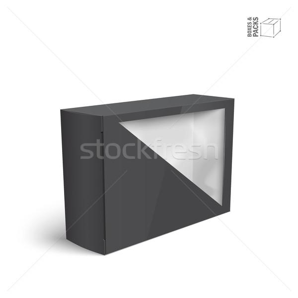Siyah vektör ürün paket kutu pencere Stok fotoğraf © Mediaseller