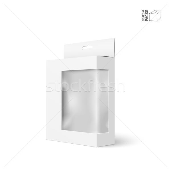 белый вектора продукт пакет окна окна Сток-фото © Mediaseller