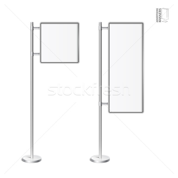 Vettore luce finestra cromo stand set Foto d'archivio © Mediaseller