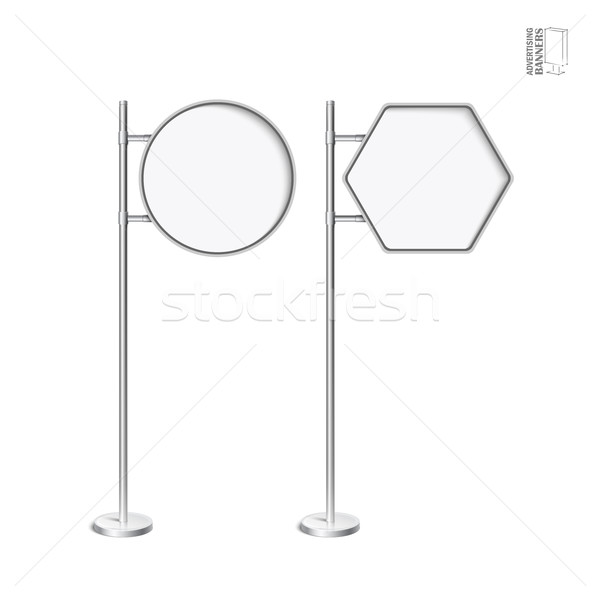 Vector light box with chrome stand Stock photo © Mediaseller