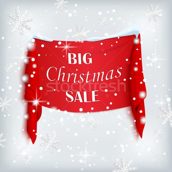 Büyük Noel satış poster kırmızı afiş Stok fotoğraf © Mediaseller