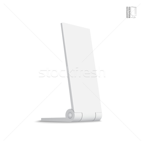 Simple aire libre publicidad stand banner Foto stock © Mediaseller