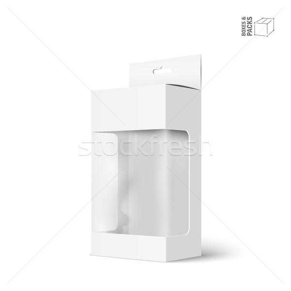Beyaz vektör ürün paket kutu pencere Stok fotoğraf © Mediaseller
