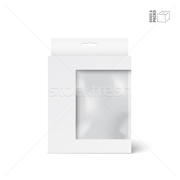 Bianco vettore prodotto pacchetto finestra finestra Foto d'archivio © Mediaseller