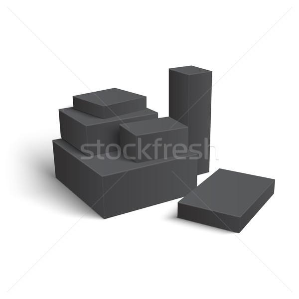 Zestaw inny pola grupy szablon papieru Zdjęcia stock © Mediaseller