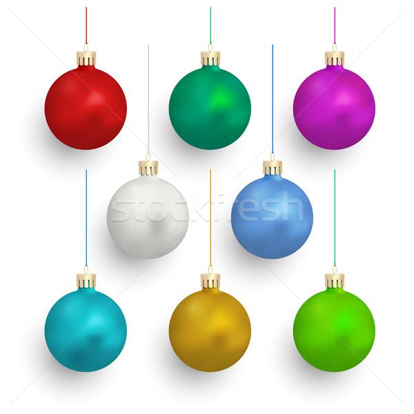набор Рождества белый иллюстрация снега Сток-фото © Mediaseller