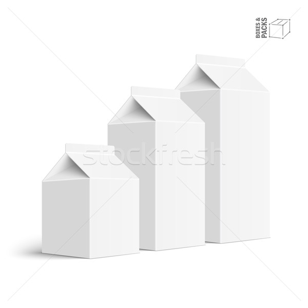 Set of juice and milk blank white carton boxes Stock photo © Mediaseller