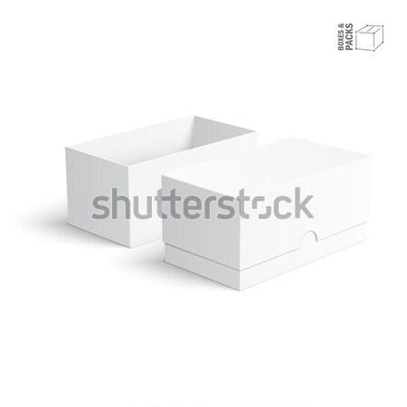 Puste papieru tektury pola szablony biały polu Zdjęcia stock © Mediaseller