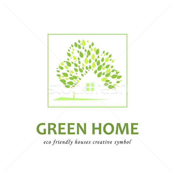 Eco friendly green houses. Stock photo © Mediaseller