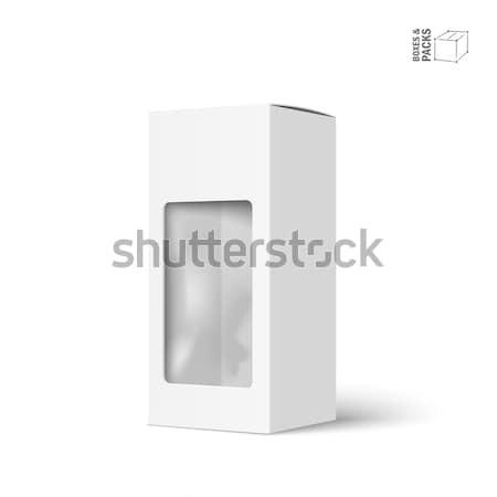 Biały wektora produktu pakiet polu okno Zdjęcia stock © Mediaseller