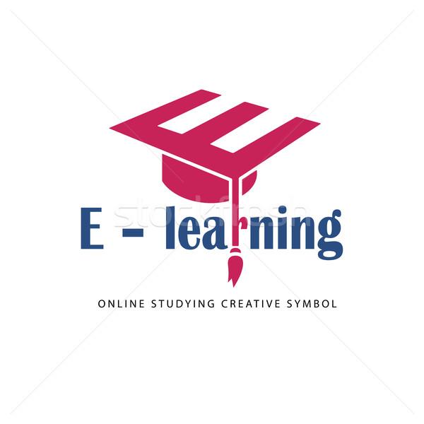 E learning logo template. Stock photo © Mediaseller