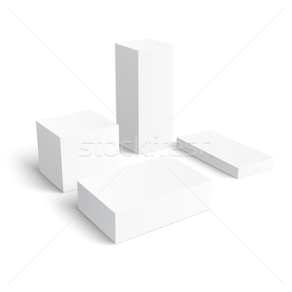 Set of different blank boxes. Stock photo © Mediaseller