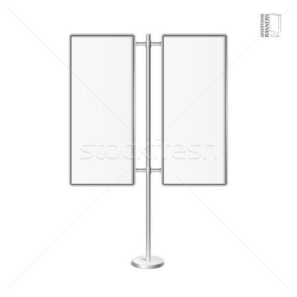 Vetor luz caixa cromo suporte modelo Foto stock © Mediaseller
