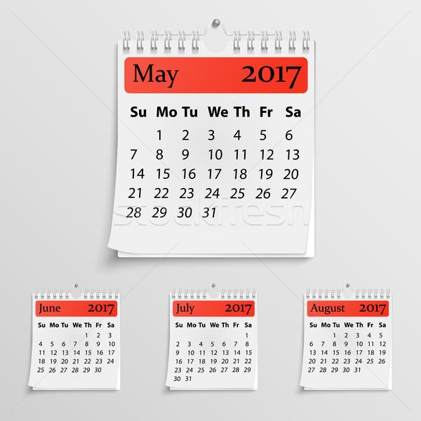 Realistic wall calendar with spring Stock photo © Mediaseller