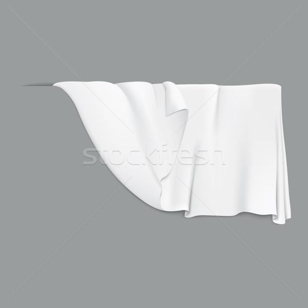 Stockfoto: Witte · opknoping · doek · gedekt · textuur · mode