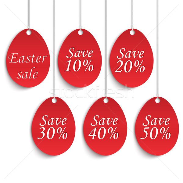 Пасху продажи плакат яйца процент бизнеса Сток-фото © Mediaseller