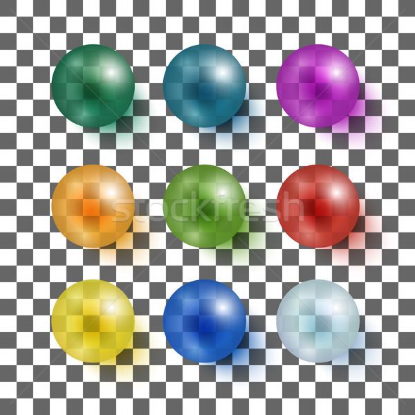 Kolekcja kolorowy kule piękna zestaw Zdjęcia stock © Mediaseller