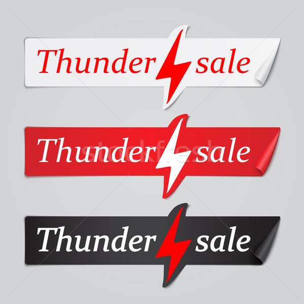 Ingesteld papier stickers donder verkoop banners Stockfoto © Mediaseller