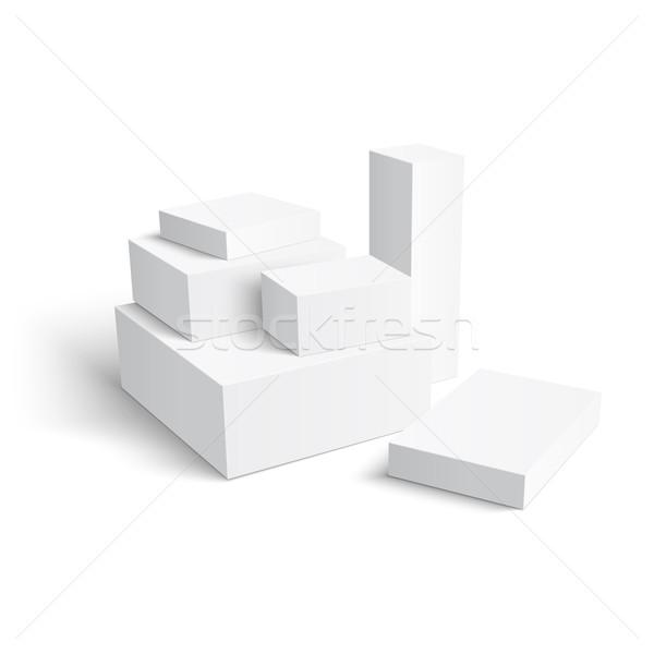 Szett különböző dobozok csoport sablon papír Stock fotó © Mediaseller