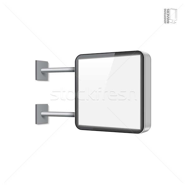 Gerçekçi vektör ışık kutu şablon beyaz Stok fotoğraf © Mediaseller