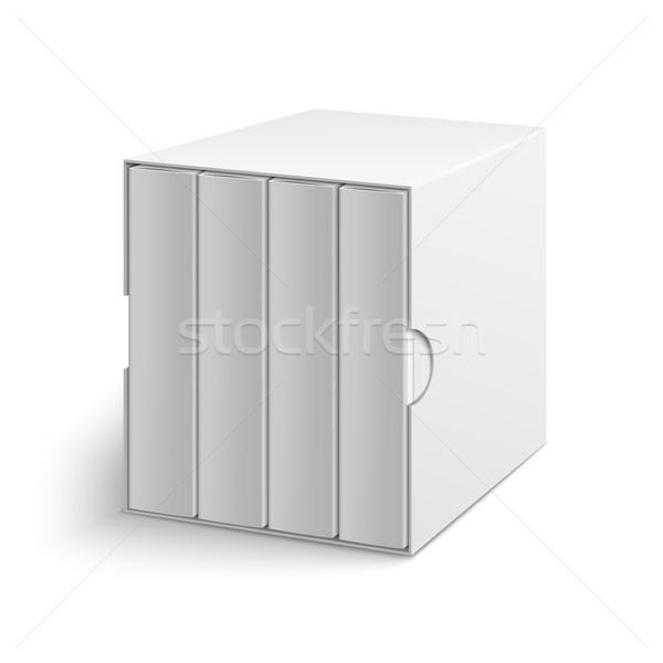 Biały szary polu okładka grupy książek Zdjęcia stock © Mediaseller