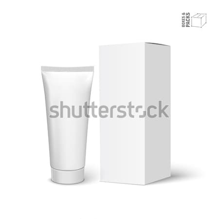 Cool Realistic white tube and packaging Stock photo © Mediaseller