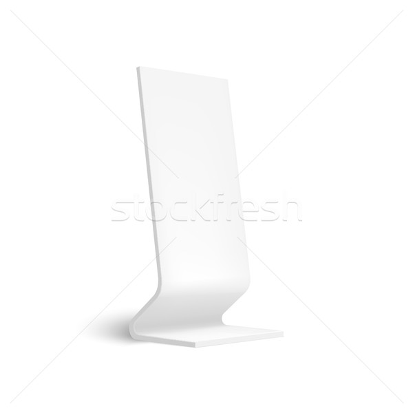 Stock photo: Realistic 3D outdoor lightbox advertising