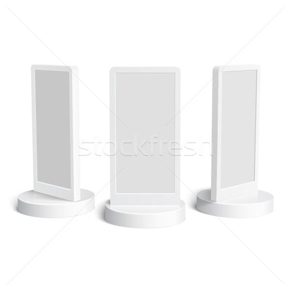 Zdjęcia stock: Realistyczny · 3D · zewnątrz · reklamy · ilustracja · odizolowany