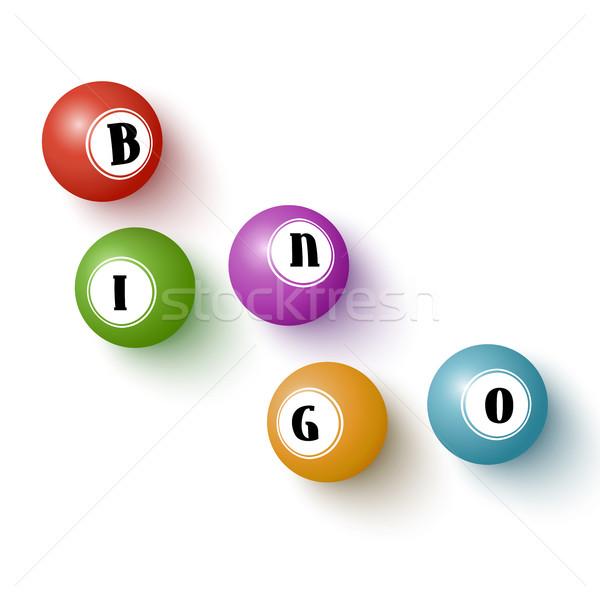 Realista colorido bingo isolado branco Foto stock © Mediaseller