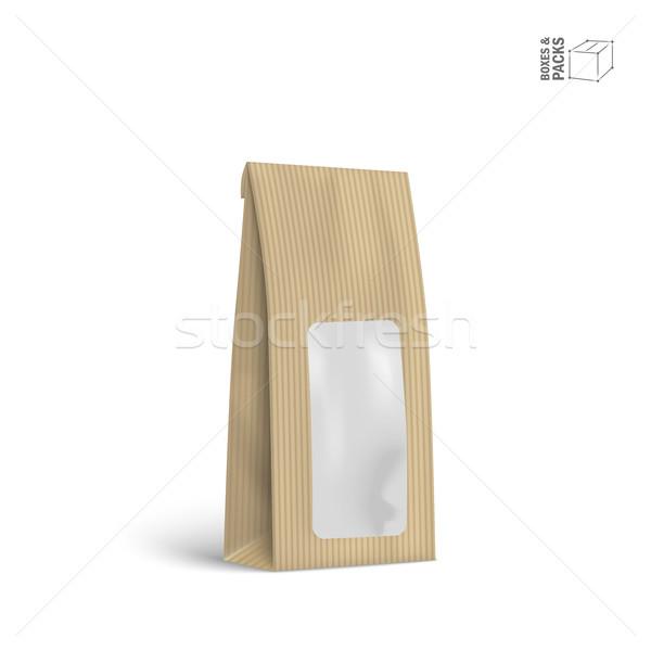 вектора упаковка пакет сумку изолированный белый Сток-фото © Mediaseller