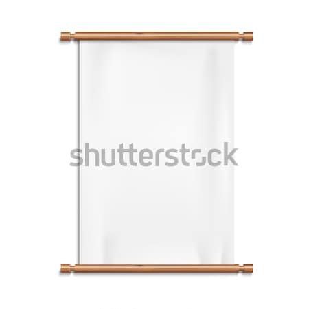 blank scrolls of white paper vector illustration © viktor jarema, Powerpoint templates