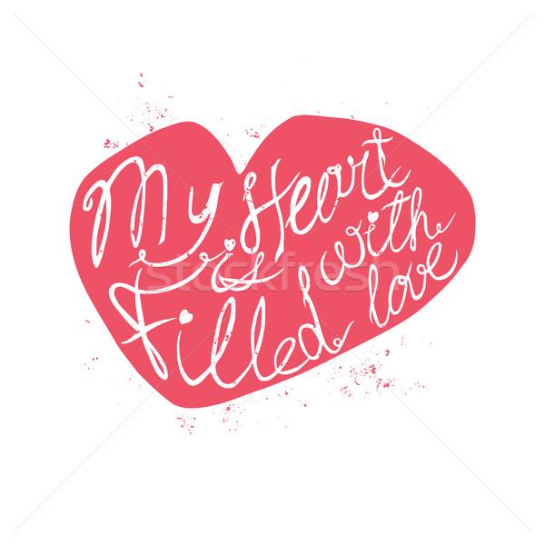 Typografii plakat romantyczny zacytować walentynki Zdjęcia stock © Mediaseller