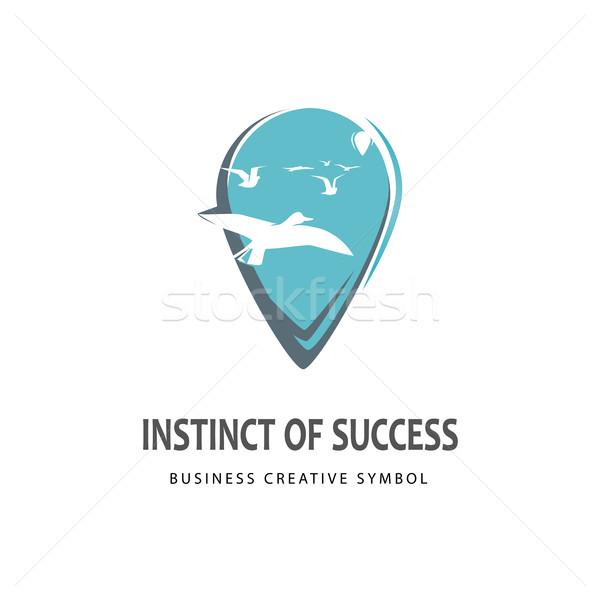 Iş rehberlik logo logo tasarımı şablon başarı Stok fotoğraf © Mediaseller