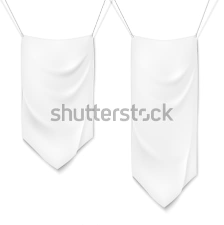 Realistic white textile banners Stock photo © Mediaseller