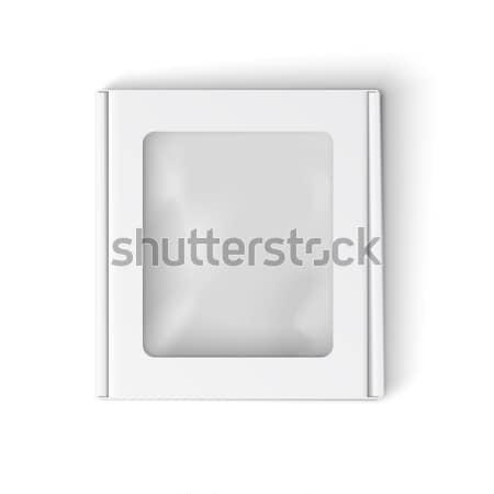 Wektora polu szablon realistyczny szkatułce okno Zdjęcia stock © Mediaseller