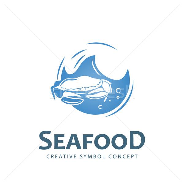 морепродуктов Creative символ вектора логотип шаблон Сток-фото © Mediaseller