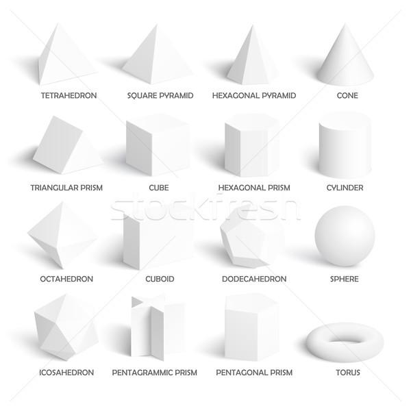 Podstawowy 3D szablon realistyczny Zdjęcia stock © Mediaseller