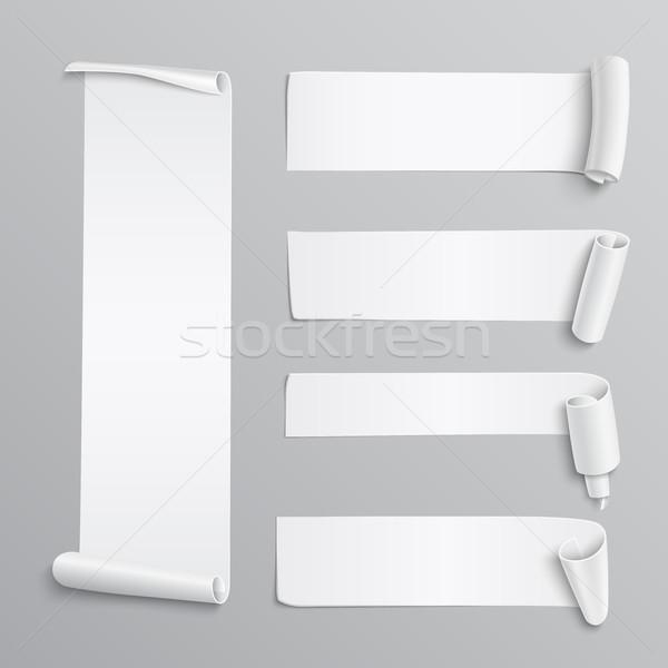 Ayarlamak beyaz kâğıt gerçekçi ayrıntılı Stok fotoğraf © Mediaseller