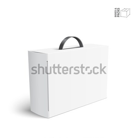 Carton Or Plastic White Blank Package Box With Handle Stock photo © Mediaseller
