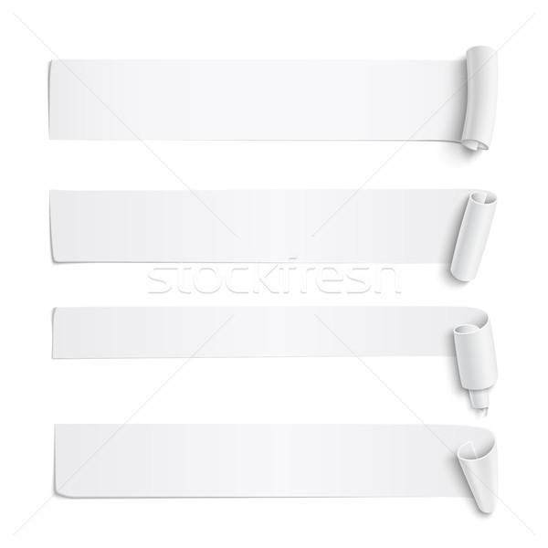 Ayarlamak beyaz kâğıt uzun gerçekçi Stok fotoğraf © Mediaseller