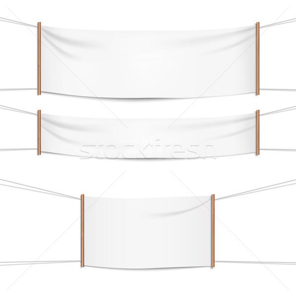 Realistico tessili ombra bianco vettore Foto d'archivio © Mediaseller
