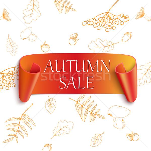 Jesienią sprzedaży naklejki strony internetowych zabawy Zdjęcia stock © Mediaseller
