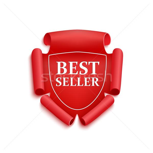 Czerwony najlepszy sprzedawca naklejki doskonały oryginał Zdjęcia stock © Mediaseller
