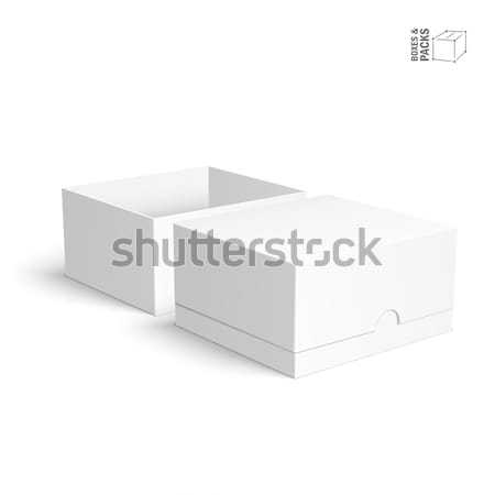 Blank paper or cardboard boxes templates on white background Stock photo © Mediaseller