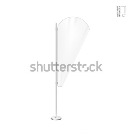 White outdoor feather flag, stander advertising banner shield Stock photo © Mediaseller