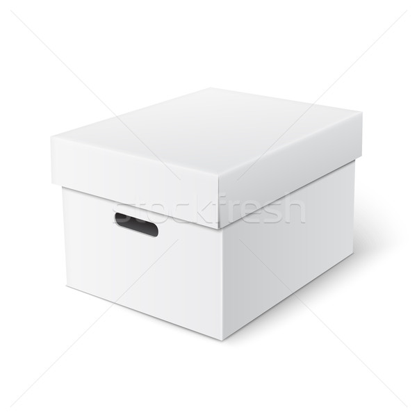 Vector cubic box template. Stock photo © Mediaseller