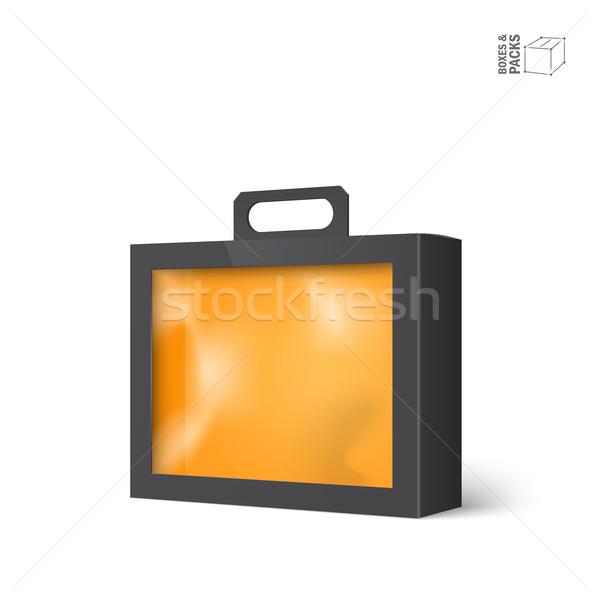 Czarny wektora produktu pakiet polu okno Zdjęcia stock © Mediaseller