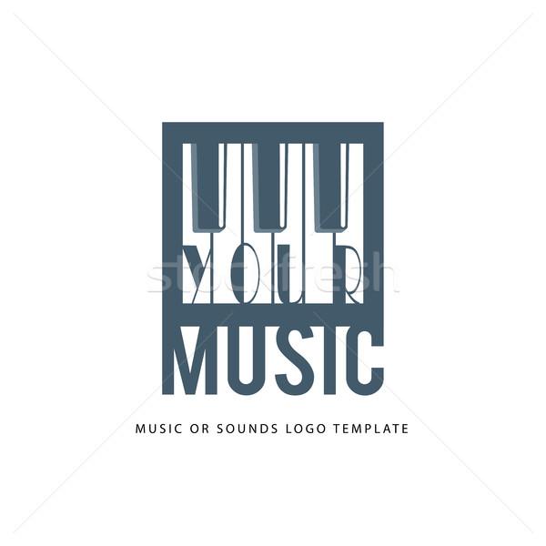 Muzyki logo szablon puszka używany online Zdjęcia stock © Mediaseller
